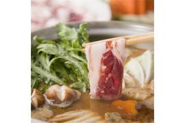 メス猪肉限定!!特上猪肉焼肉用or鍋用・脂身と赤身の美しいバランスの特上のロースです。3〜4人前 500g前後:5400円