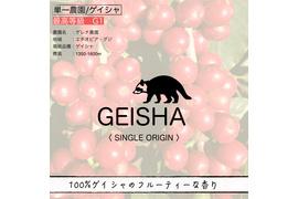 3 ゲイシャ400g(200g×2)受注焙煎コーヒー豆【豆/粉】コーヒーカップ30-40杯分
