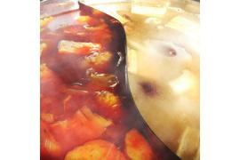 【コロナ支援・訳あり価格】2種類の台湾火鍋4人前+イカ団子10個+海老焼売10個セット