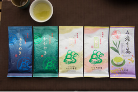 いしだ茶屋の上級煎茶詰め合わせ100g×5袋:5065円