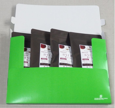 ④ オーガニック茶葉使用の農薬不使用ほうじ茶ティーバッグ4袋 (2.5g10包入×4袋):1592円
