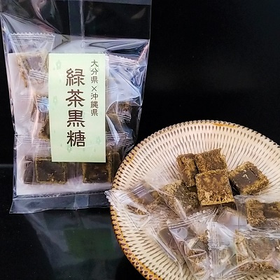 九州産粉末緑茶&緑茶黒糖セット:1200円