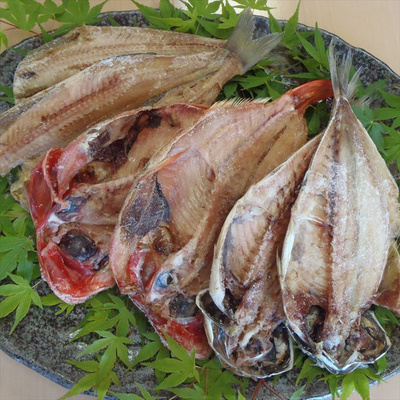 わけあり干物3種セット アジ2尾+金目鯛2尾+おまかせ2尾(ホッケまたはサバで選べません) 合計6尾